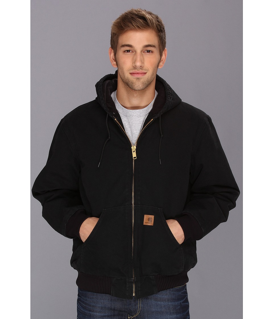 Carhartt - Big Tall QFL Sandstone Active Jacket (Black) Men's Jacket