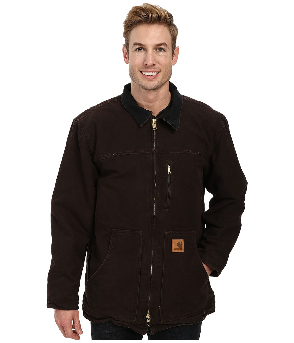 Carhartt - Sandstone Ridge Coat (Dark Brown) Men's Jacket