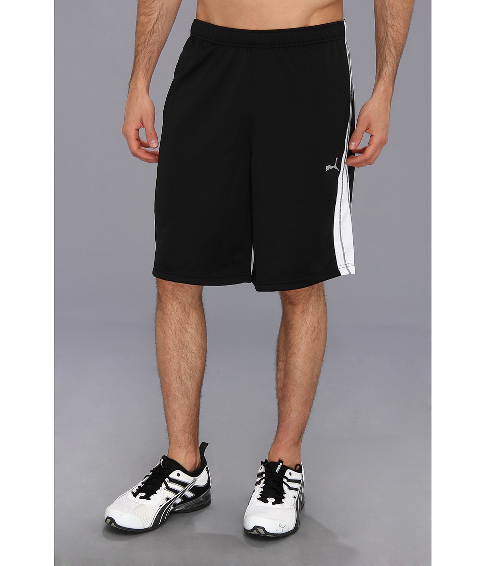 PUMA - 10 Form Stripe Short (Black/White) Men's Shorts