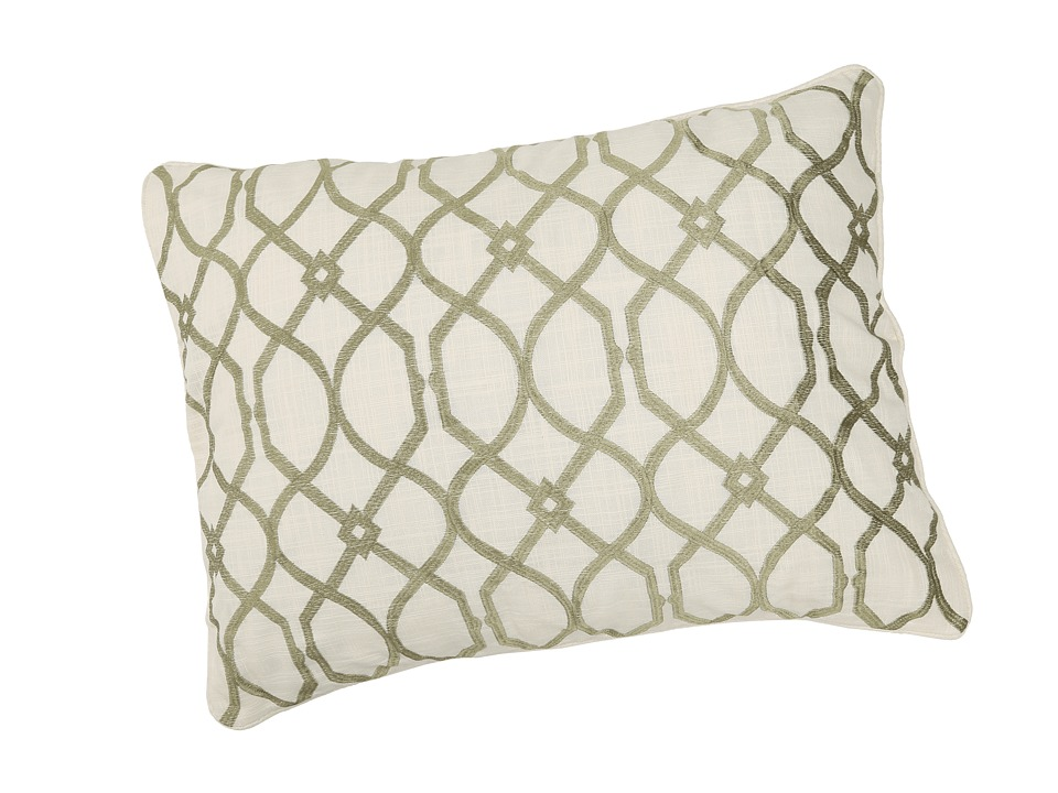 Tommy Bahama - Embroidered Trellis King Sham (Palm Green) Sheets Bedding