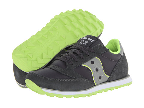 Saucony Originals - Jazz Low Pro (Charcoal/Light Grey/Citron) Men