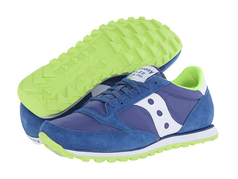 Saucony Originals - Jazz Low Pro (Blue/White/Citron) Men's Classic Shoes