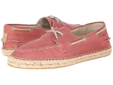 Sperry Top-Sider - Espadrille 2-Eye Canvas (Red) Men's Lace Up Moc Toe Shoes