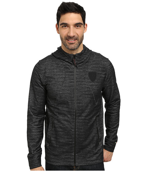 PUMA - Ferrari Hooded Sweat Jacket (Black/Denim) Men's Jacket