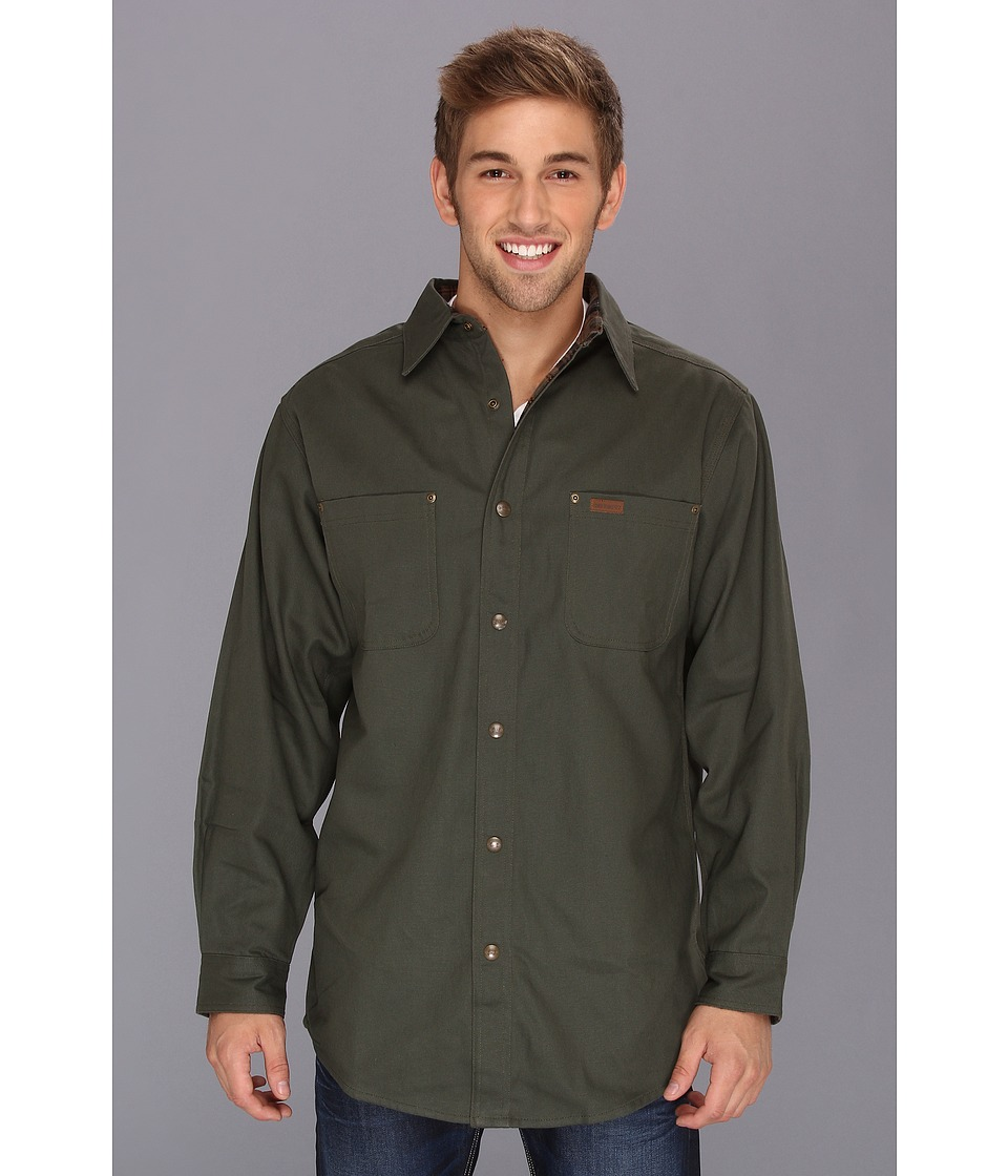 Carhartt - Classic Canvas Shirt Jacket - Tall (Moss) Men's Clothing