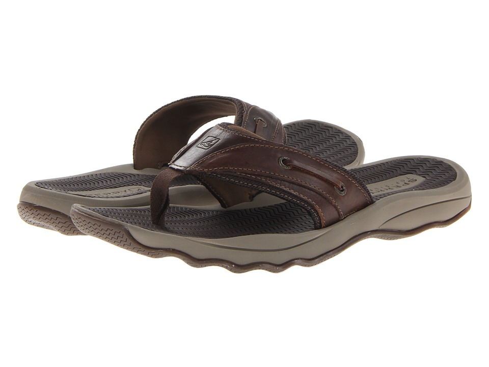 Sperry Outer Banks Thong (Brown) Men