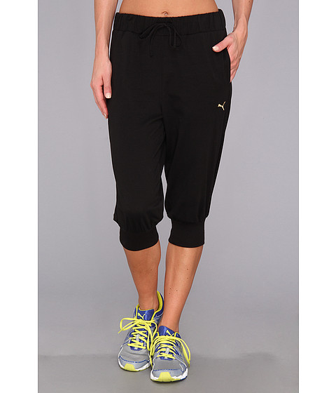 PUMA - Core 3/4 Drapy Pant (Black) Women's Casual Pants