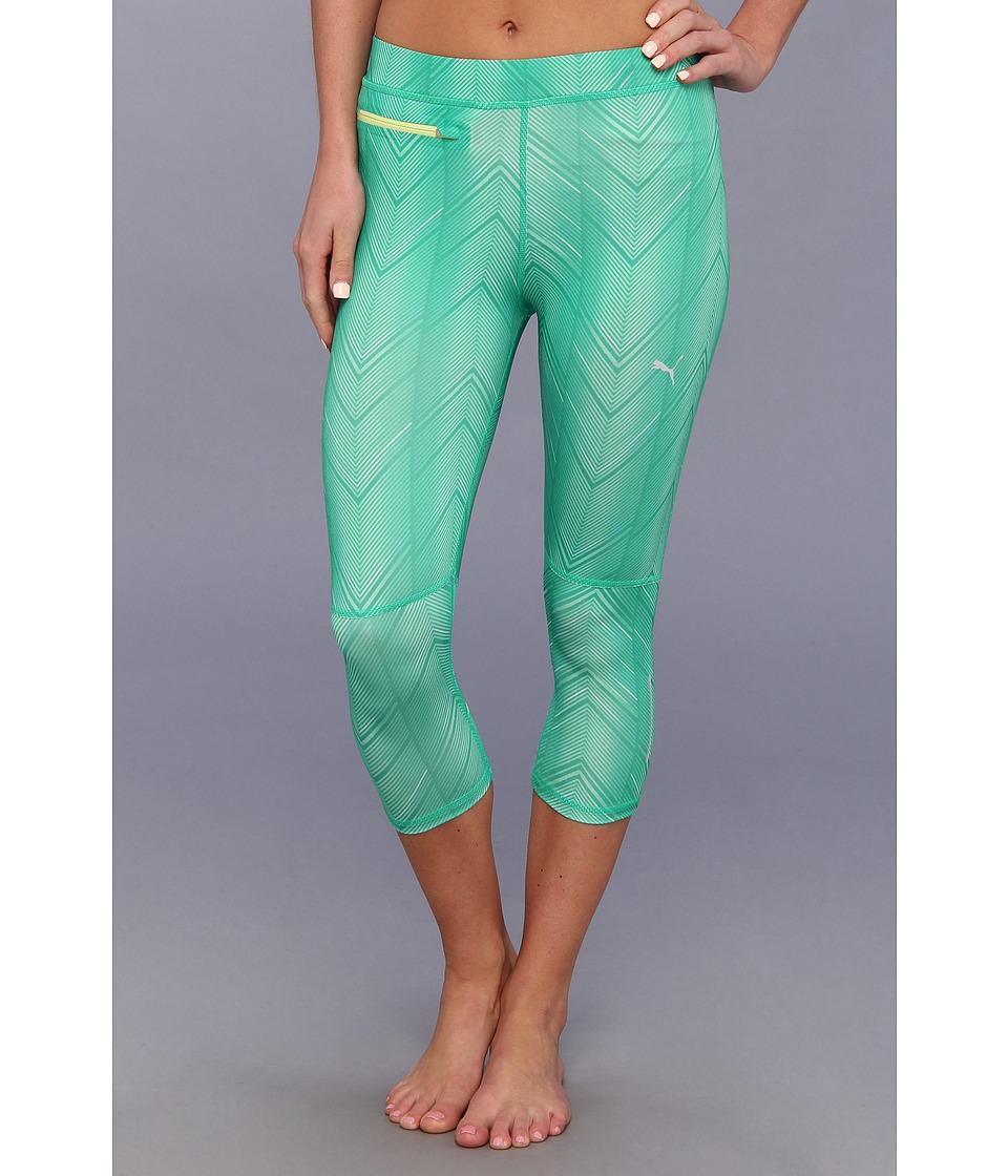 PUMA - PR Progr Graphic 3/4 Tight (Mint) Women's Workout