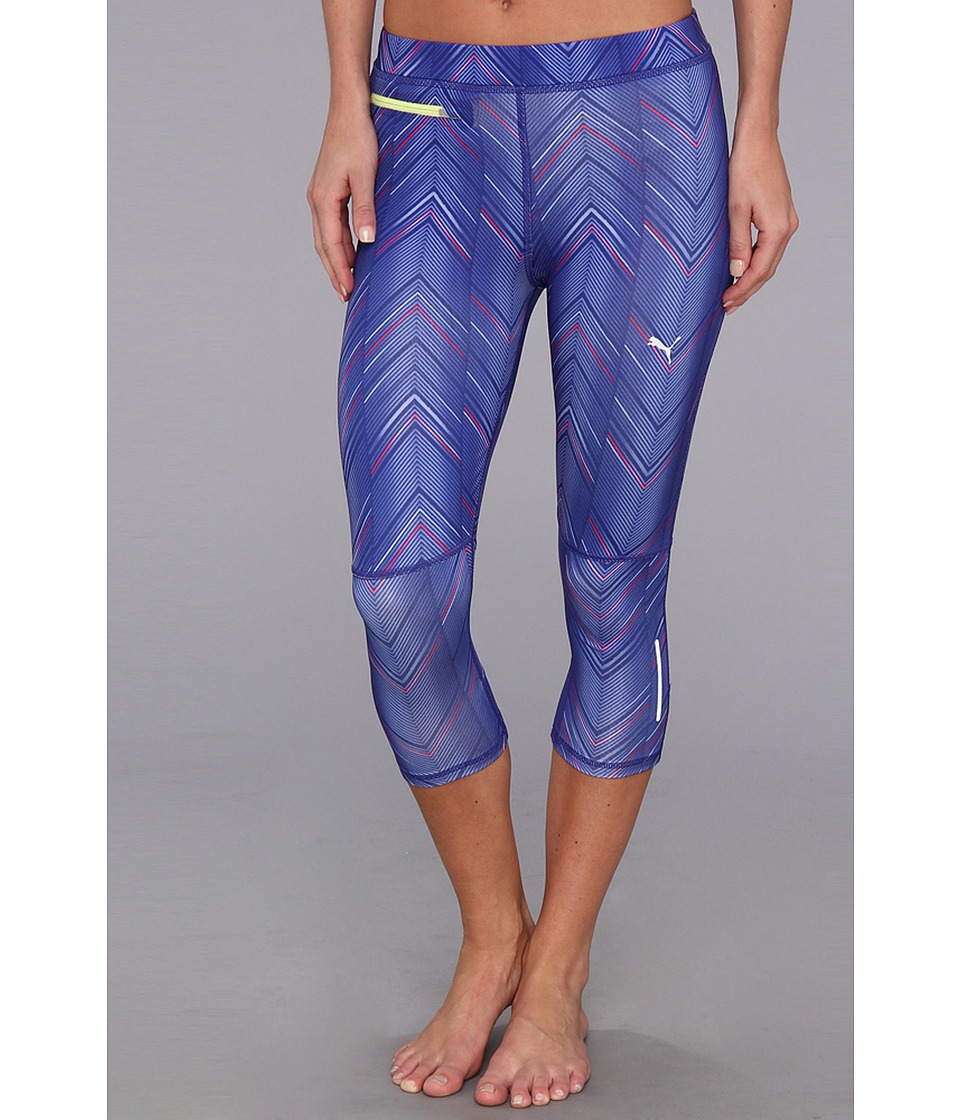 PUMA - PR Progr Graphic 3/4 Tight (Spectrum Blue) Women's Workout