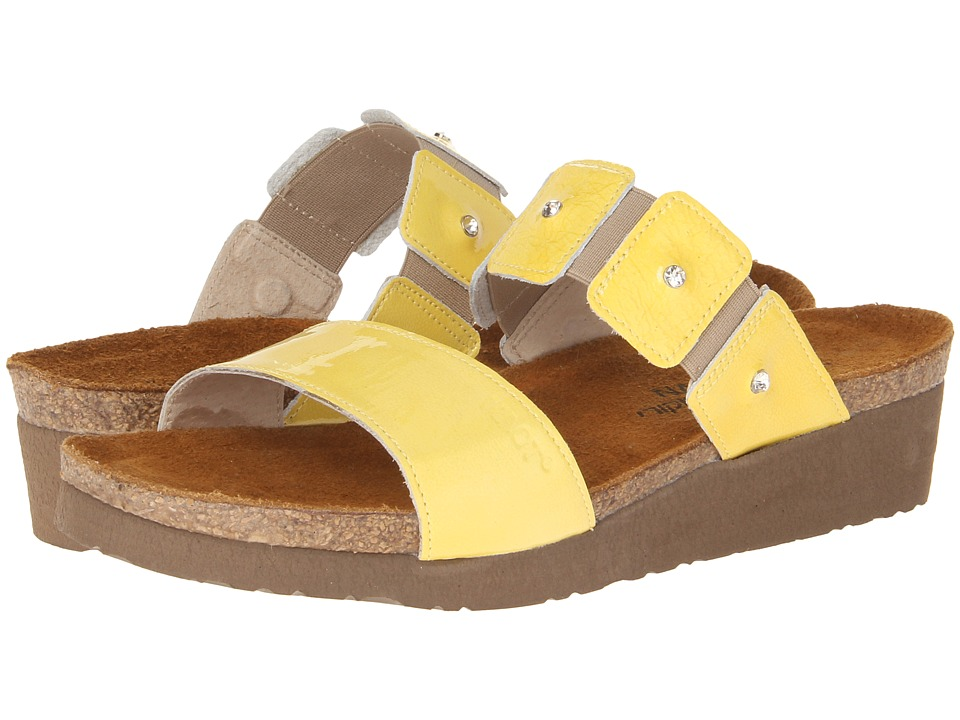Naot Footwear - Ashley (Yellow Patent Leather) Women's Sandals