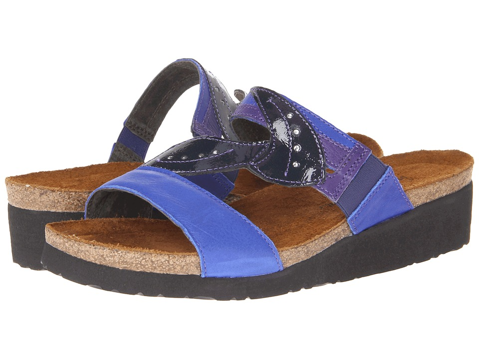 Naot Footwear - Kimberly (Royal Blue Leather/Purple Leather/Navy Patent Leather) Women