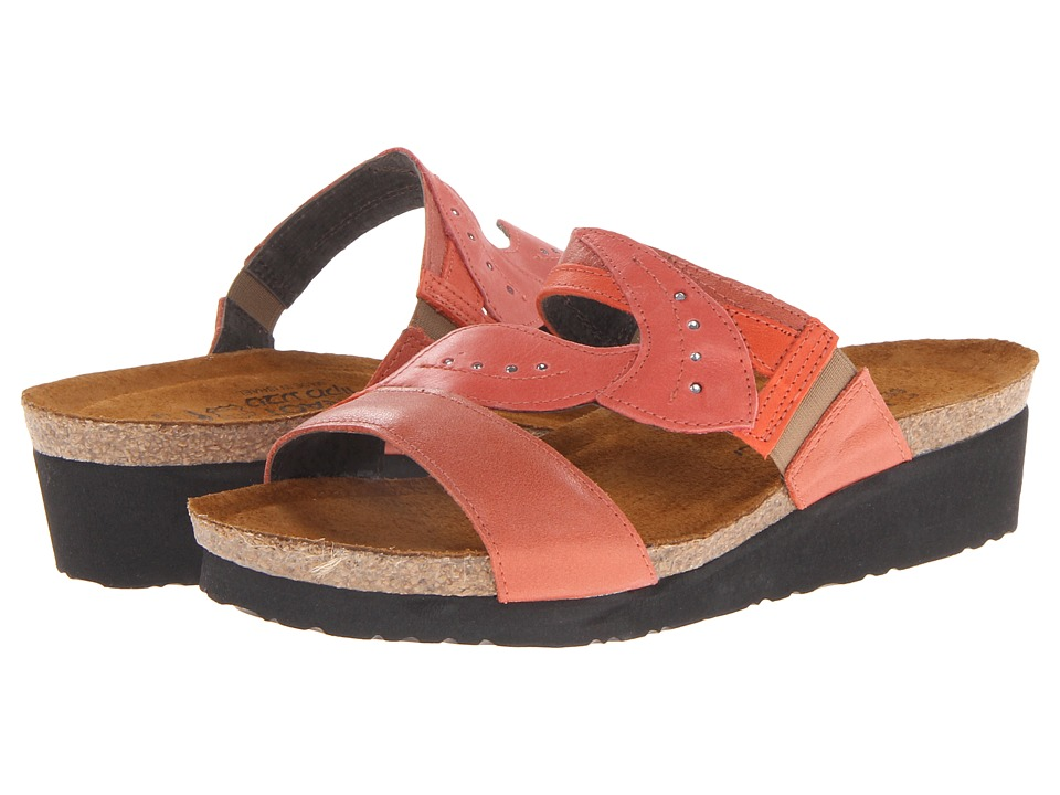 Naot Footwear - Kimberly (Coral Reef Leather/Orange Leather/Papaya Leather) Women