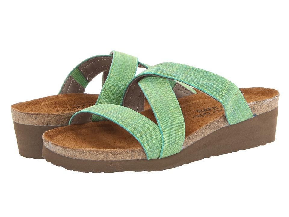 Naot Footwear - Naomi (Green Fabric) Women's Shoes