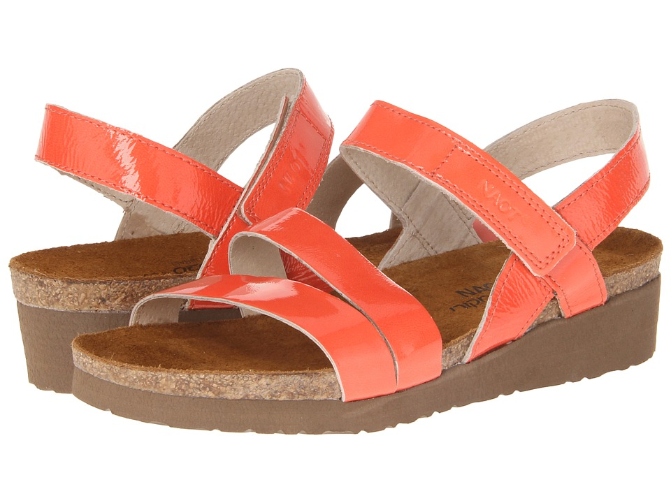 Naot Footwear - Kayla (Coral Patent Leather) Women