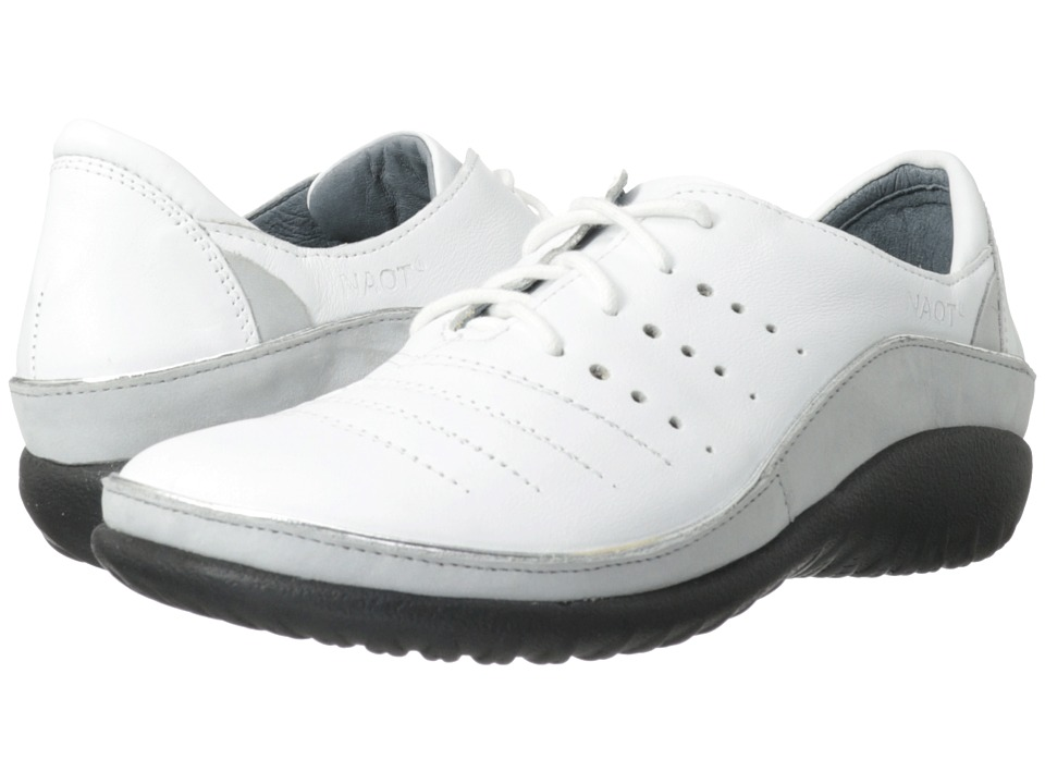 Naot Footwear Kumara (White Leather/Soft Gray Leather) Women