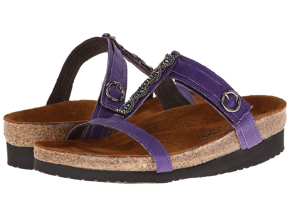 Naot Footwear - Malibu (Purple Leather) Women's Slide Shoes