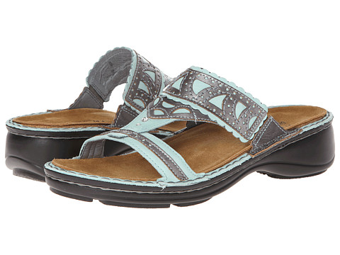 Naot Footwear - Oleander (Celadon Leather/Mirror Leather) Women's Sandals