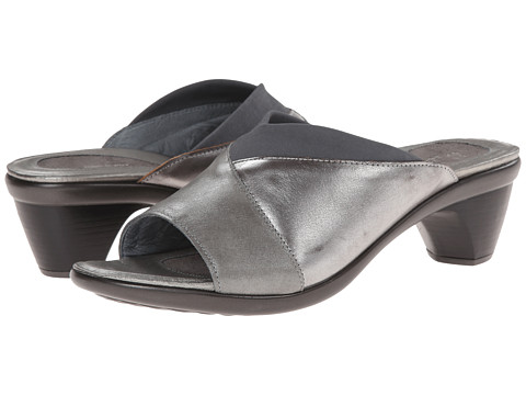 Naot Footwear - Dignity (Rainy Gray Leather/Mirror Leather/Gray Stretch) Women's Shoes