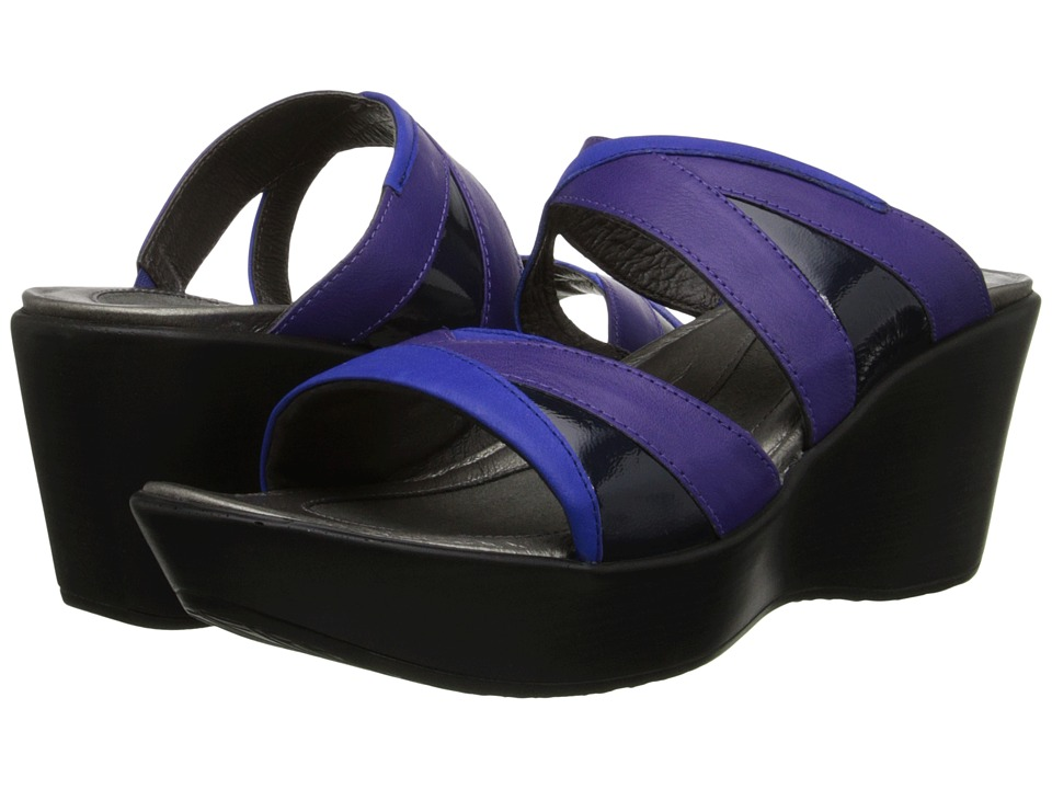 Naot Footwear Siren (Royal Blue Leather/Purple Leather/Navy Patent Leather) Women