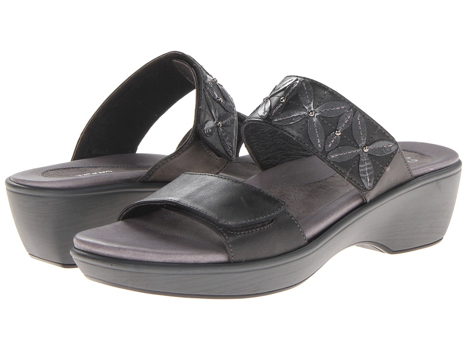 Naot Footwear Port (Black Pearl Leather/Gray Patent Leather) Women