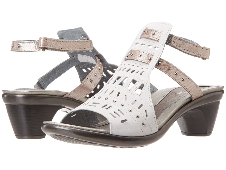 Naot Footwear - Vogue (Soft Gray Leather/Silver Threads Leather) Women