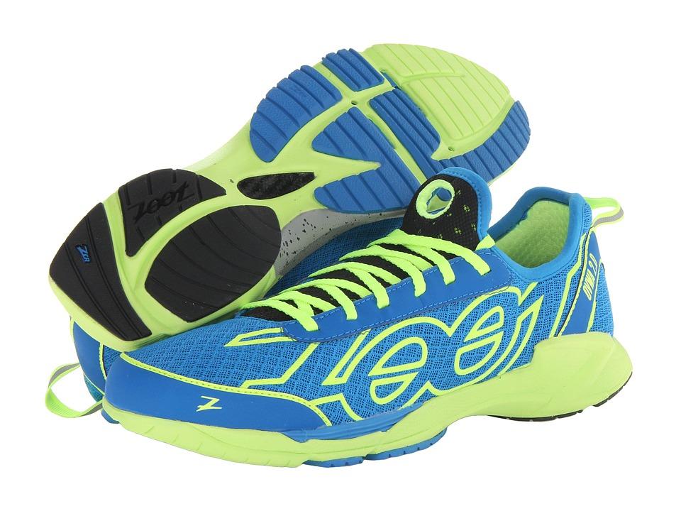 Zoot Sports - Ovwa 2.0 (Zoot Blue/Safety Yellow/Black) Men's Running Shoes