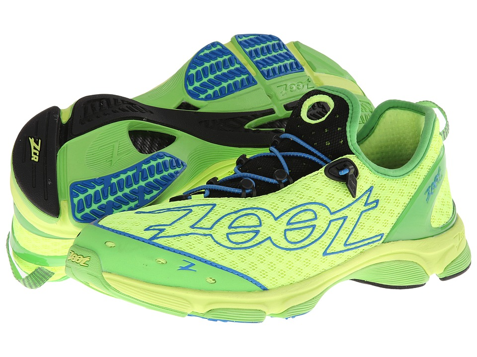 Zoot Sports - Ultra TT 7.0 (Safety Yellow/Green Flash/Zoot Blue) Men's Running Shoes