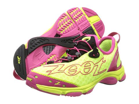 Zoot Sports - Ultra TT 7.0 (Safety Yellow/Beet/Black) Women's Running Shoes