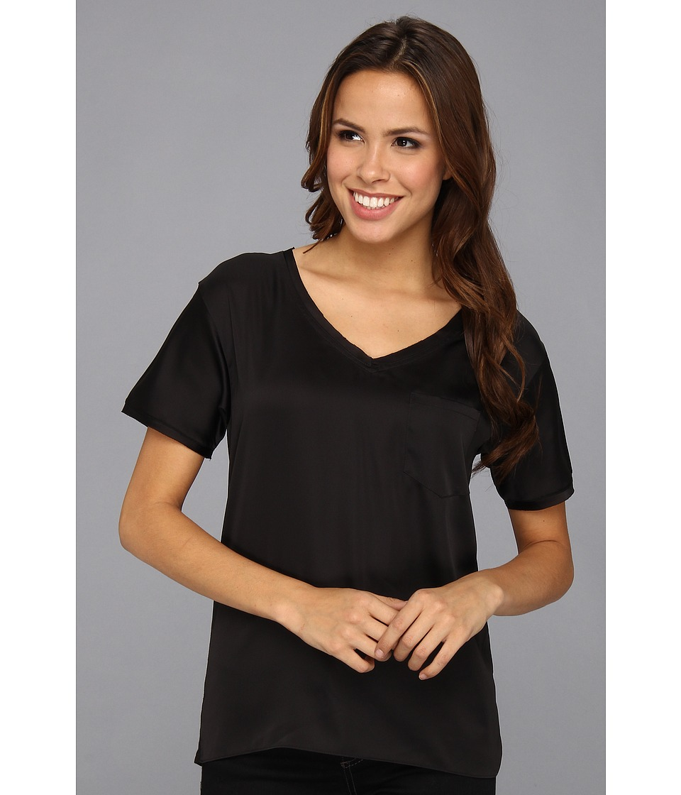 NYDJ - Charmeuse Pocket Tee (Black) Women