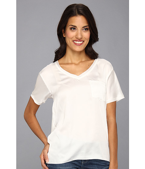 NYDJ - Charmeuse Pocket Tee (Ivory) Women