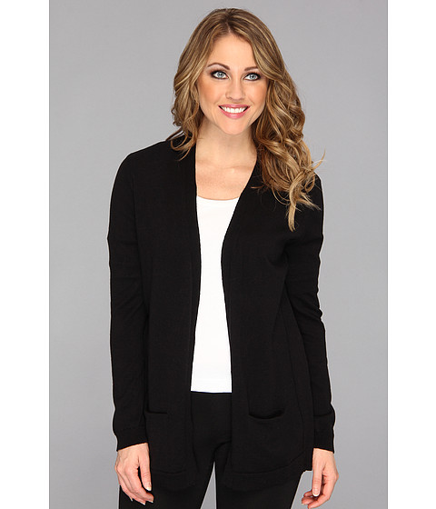 NYDJ - Mixed Media Cardigan (Black) Women's Sweater