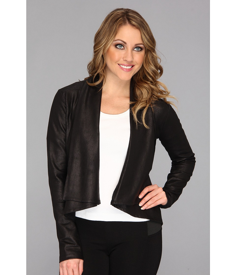 NYDJ - Coated French Terry Jacket (Black) Women