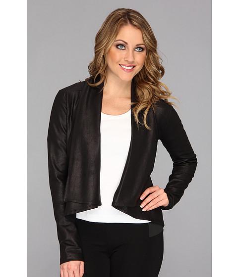 NYDJ - Coated French Terry Jacket (Black) Women's Jacket