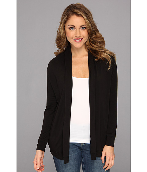 NYDJ - French Terry Cardigan (Black) Women's Sweater