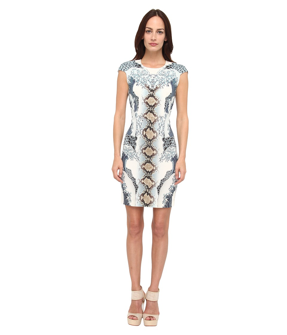 Just Cavalli - S02CT0238N36615 (Light Cyan Variant) Women's Dress
