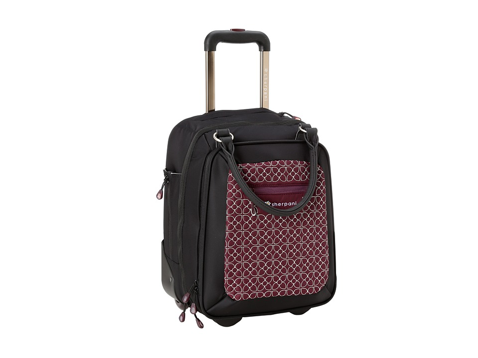 Sherpani - Vert LE Wheeled Travel Briefcase (Plum/Black) Briefcase Bags