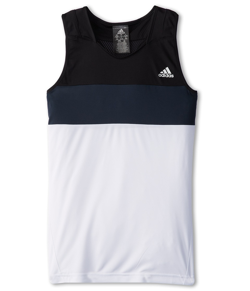 adidas Kids - Response Tank Top (Little Kids/Big Kids) (White/Grey) Girl's Sleeveless