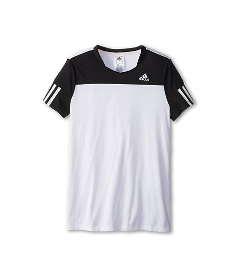 adidas Kids - Response Tee (Little Kids/Big Kids) (White/Black) Girl