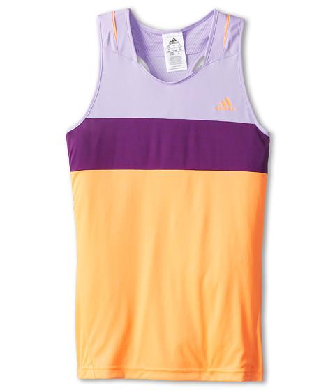 adidas Kids - Response Tank Top (Little Kids/Big Kids) (Glow Orange/Glow Purple) Girl