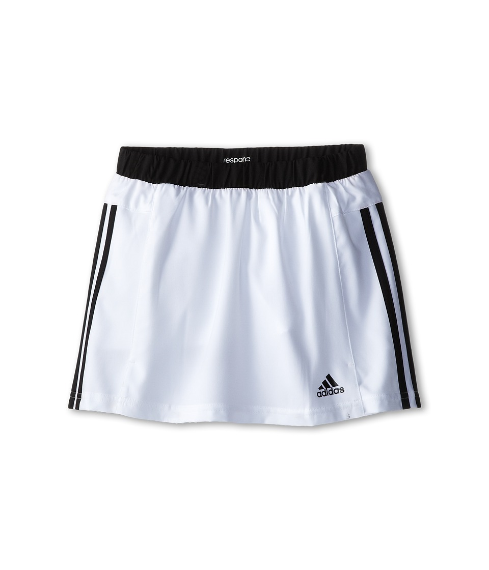 adidas Kids - Response Skort (Little Kids/Big Kids) (White/Black) Girl's Skort