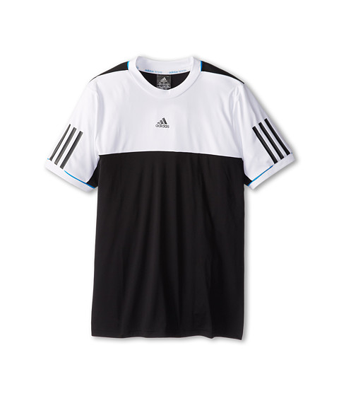 adidas Kids - Response Tee (Little Kids/Big Kids) (Black/White) Boy