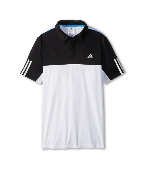 adidas Kids - Response Traditional Polo (Little Kids/Big Kids) (White/Black) Boy's Short Sleeve Pullover