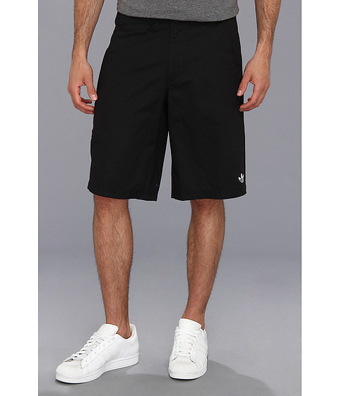 adidas Originals - 3-Stripes Clean Short (Black/Mid Grey) Men