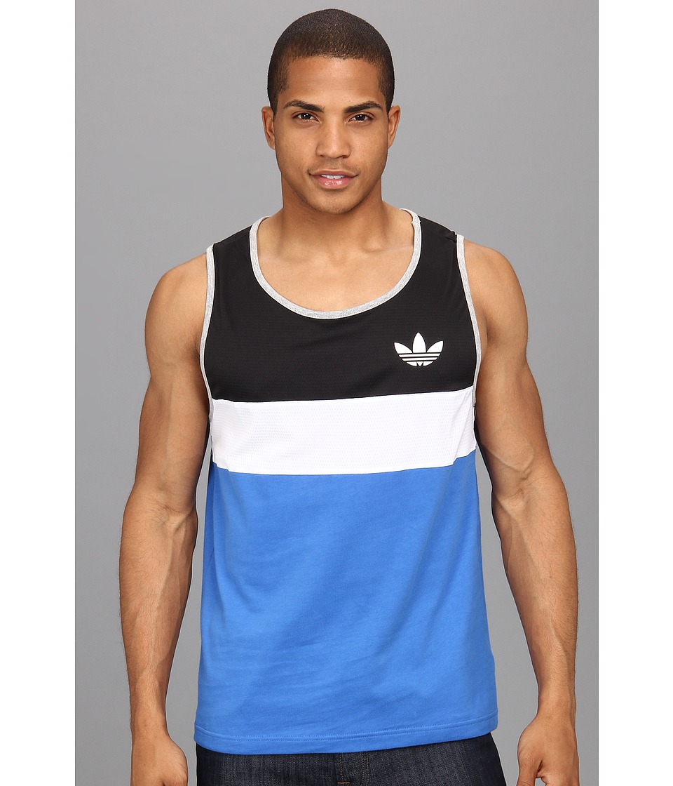 adidas Originals - LL2 Tank Top (Air Force Blue/Black/White) Men's Sleeveless