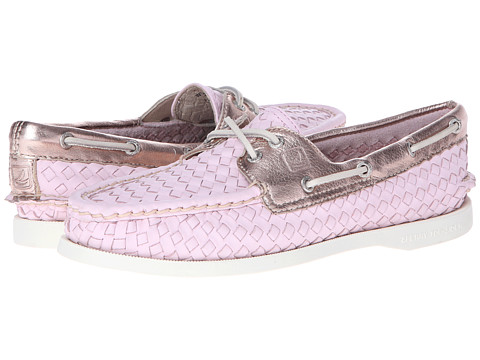 Sperry Top-Sider - A/O 2 Eye (Light Pink Woven) Women's Slip on Shoes