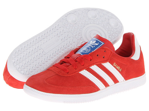 adidas Originals Kids - Samba Suede (Little Kid/Big Kid) (Collegiate Red/White/Bluebird) Boy