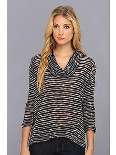 SALE! $34.99 - Save $63 on Splendid Fireside Cowl Neck Sweater (Black Sand Dollar) Apparel - 64.30% OFF $98.00