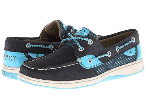 Sperry Top-Sider - Bluefish 2-Eye (Navy/Turquoise Sporty Mesh) Women's Lace up casual Shoes