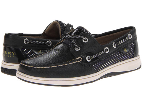 Sperry Top-Sider - Bluefish 2-Eye (Black/Sporty Mesh) Women's Slip on Shoes