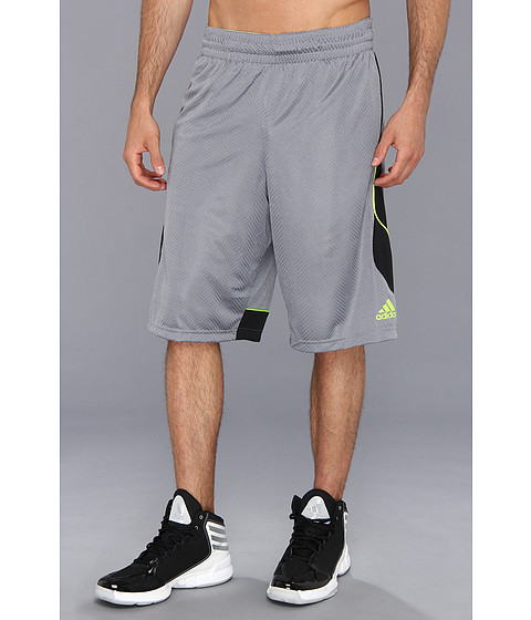 adidas - Crazy Smooth Short (Tech Grey/Black) Men